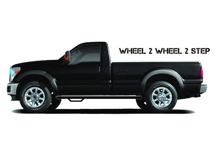 2 Pack N-Fab T0786CC-TX Textured Black CrewMax 5.6 Short Bed Nerf Step Wheel Black-T0786CC-TX