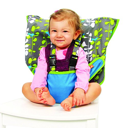 My Little Seat Pocket Full of Posies Travel Chair, Red/Brown 606