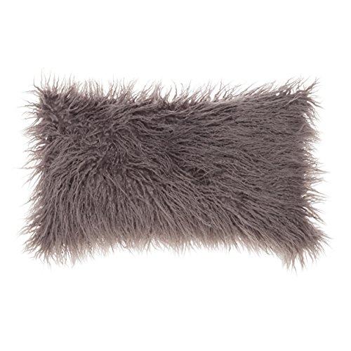 SLPR Mongolian Faux Fur Throw Pillow Cover  | Decorative Sof