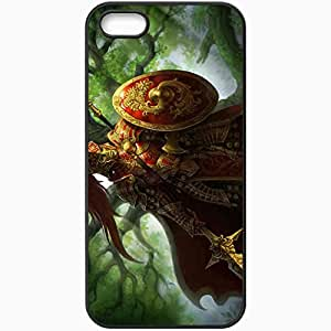 Personalized iPhone 5 5S Cell phone Case/Cover Skin Art Warrior Armor Mask Spear Shield Black