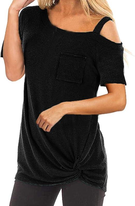 Camisetas Largas De Mujer Ronamick Casual Blusa Encaje Tops ...