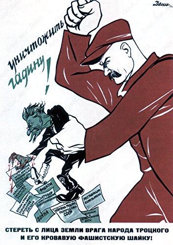 (UpCrafts Studio Design Soviet Propaganda Poster - Anti Fascist Poster (24x36, Unframed Prints), Anti Hitler Wall Art Vintage Decorations )