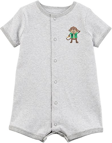 Carter's Baby Boys' Monkey Snap-Up Cotton Romper