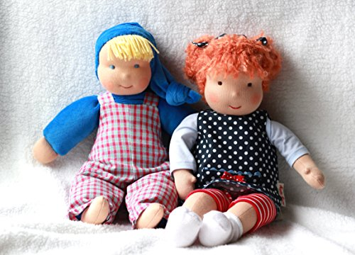 Kathe Kruse Waldorf Schatzi Boy Plush Doll Dark Blue New Ebay