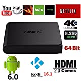 Harryup T95X Android 6.0 TV Box, Kodi 16.1 Pre-installed Android 6.0 Marshmallow OS Amlogic S905X Quad Core TV Box 1G/8G 4K HD WiFi Google Streaming Media Player