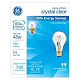 Tools & Hardware : GE Lighting 78796 Energy-Efficient Crystal Clear 43-Watt (60-watt replacement) 750-Lumen A19 Light Bulb with Medium Base, 2-Pack