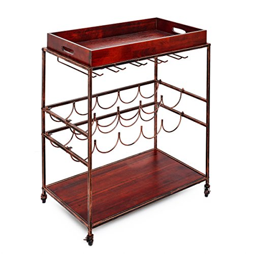 Glass Top Serving Cart - Old Dutch