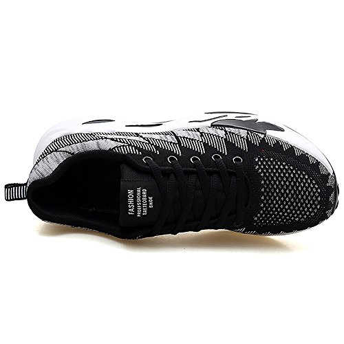 Homme Mode Blanc Noir Shufang Baskets 39 EU pour shoes ZxqCB
