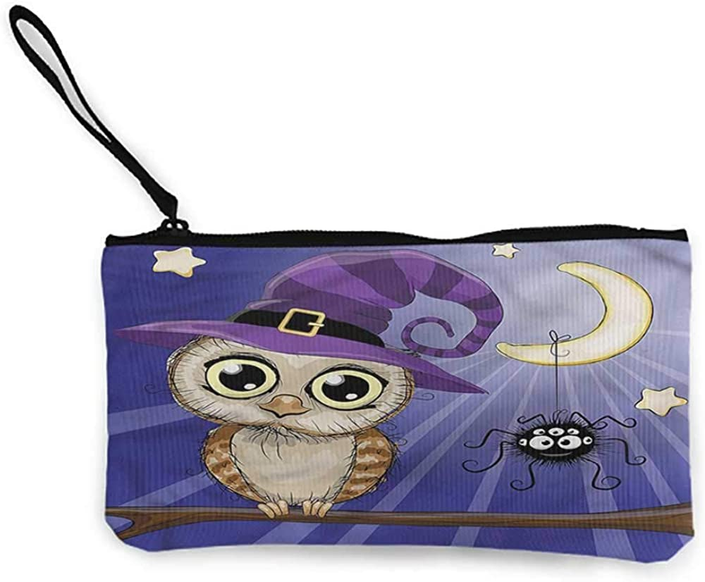 Womens Coin Purses Witch,Charming Lady Skull Candle,Zipper multifunction fabric