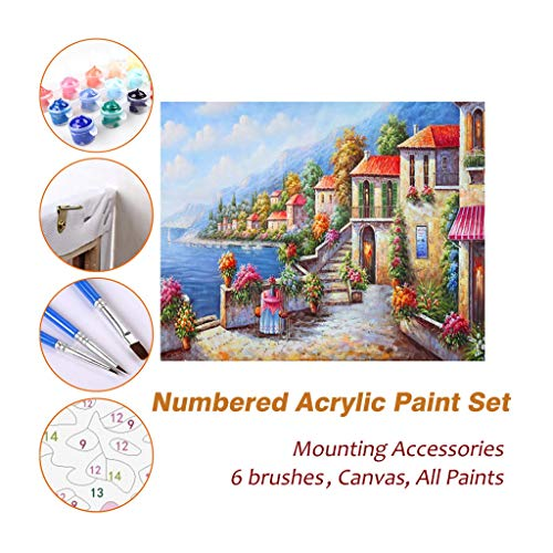 Acrylic Oil Painting Paint by Numbers Kits Sets with for sale  Delivered anywhere in USA