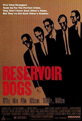 Reservoir Dogs Inspired Movie Film Art Poster Photo Art Print Home Wall D\u00e9cor