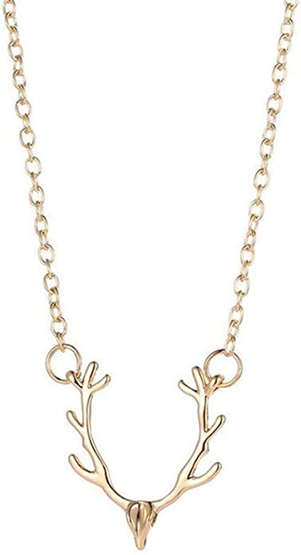 Dainty antler pendant Horn necklace Antler necklace Christmas necklace