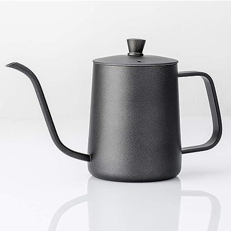 LNDDP Cafetera de Mano 600ml Hervidor de café Fino de Acero ...