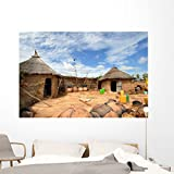 Africa Villaggio Wall Mural by Wallmonkeys Peel and Stick Graphic (72 in W x 48 in H) WM190705