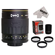 Opteka 500-1000mm f/8 HD Mirror Telephoto Lens with Cleaning Cloth for Sony Alpha E-Mount a7r, a7s, a7, a6000, a5100, a5000, NEX-7, NEX-6, NEX-5T, NEX-5N, NEX-5R and NEX-3N Digital Mirrorless Cameras