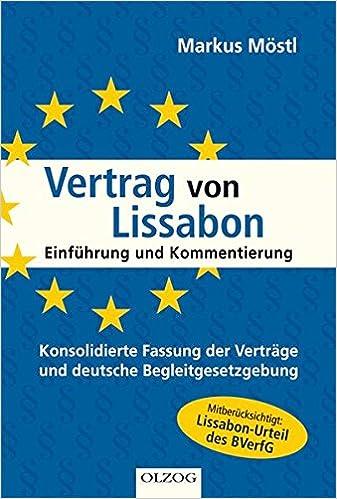 Vertrag Von Lissabon Einführung Und Kommentierung Amazonde