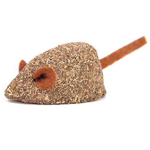 - Yamalans Mouse Shape Natural Catgrass Catnip Biting Toy Hairball Control Cat Food