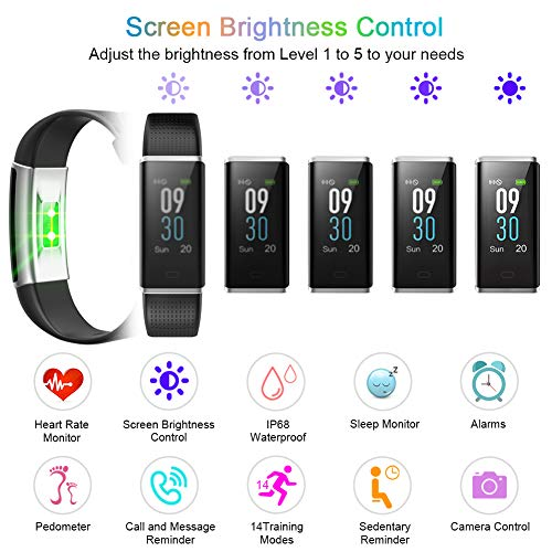 Letsfit Screen, Rate Monitor Watch, IP68 Watch Step Calorie Counter Sleep Activity for Women