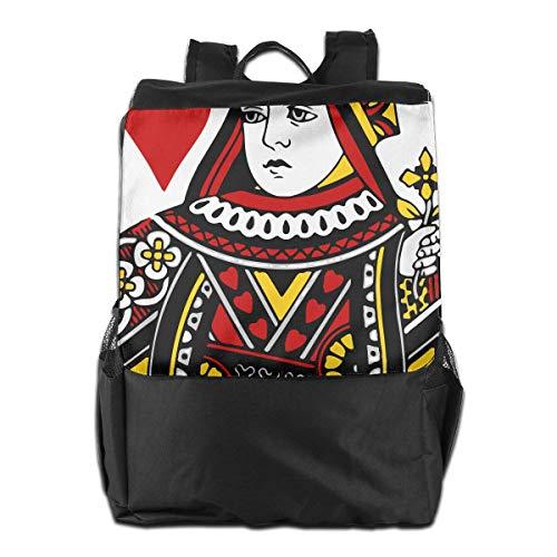 College Bookbag Queen Of Backpack Laptop School Men Hearts Travel Game Poker Women POPqFpn