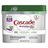 Cascade Platinum ActionPacs Dishwasher Detergent with The Power of Clorox, Fresh, 44 Count (Packaging May Vary)