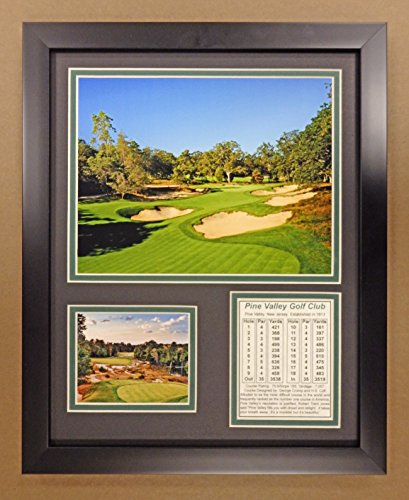 Legends Never Die PGA Pine Valley Golf Course Double Matted Photo Frame, 12