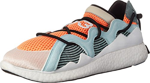 Y-3 Women's Toggle Boost Sneakers, Glow Orange/White/Vapour Blue, 8.5 M US