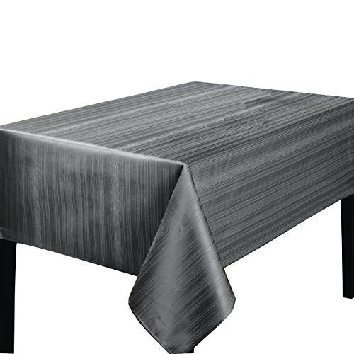 "Benson Mills Flow Spillproof Tablecloth, 60"" x 104"", Gray"