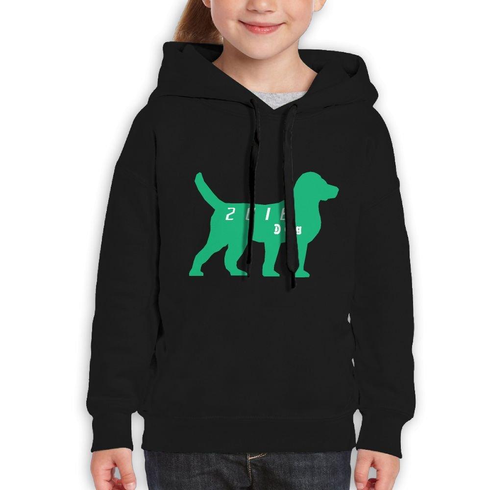 2018 Years Of Dog Lover Girls Boys Teens Cotton Long Sleeve Cute Sweatshirt Hoodie Unisex