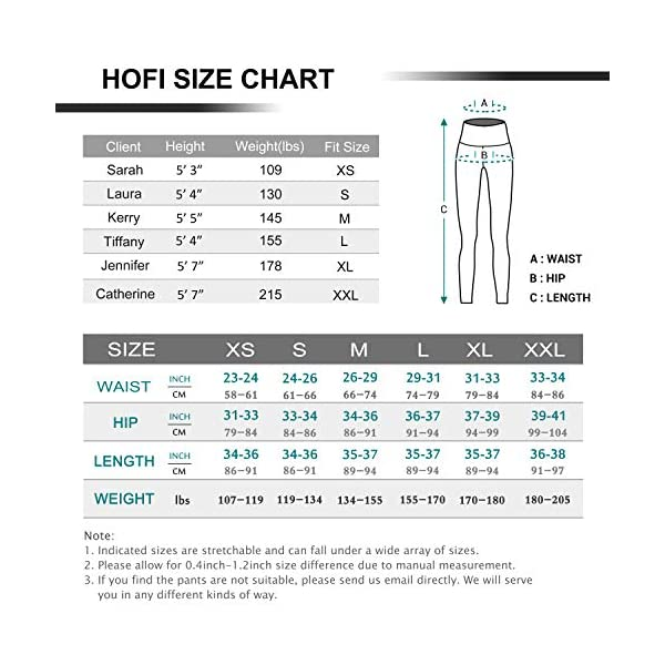 Hofi High Waist Yoga Pants With Side Inner Pockets Tummy Control Women Leggings With Special Line Design