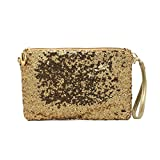 Naimo Women's Shining Evening Bag Evening Purse for Wedding Party with Detachable Chain