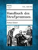 Handbuch des Strafprozesses, Julius Glaser, 1287362079