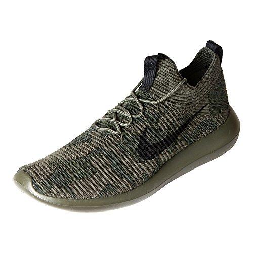 Nike Mens Roshe Due Flyknit V2 Scarpe Da Corsa Cargo Kaki / Nero