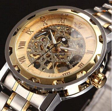 ALPS Men's Skeleton Stainless Steel Mechanical Watch Dress Watch