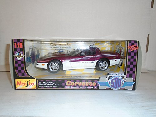 - Maisto 1:18 Scale 1995 Indianapolis 500 Official Pace Car Corvette Die Cast Car