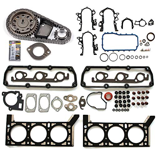 OCPTY Engine Timing Part KT3-388S Timing Chain kit Head Gasket Set Fits for 2001 2002 2003 Chrysler Voyager 2001 2002 2003 2004 Chrysler Town Country 2001 2002 2003 2004 Dodge Caravan ()