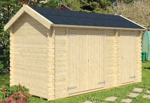 Skan Holz Blockbohlenhaus Flexi Größe 2, 420 x 300 cm