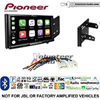 Volunteer Audio Pioneer AVH-W4400NEX Double Din Radio Install Kit with Wireless Apple CarPlay, Android Auto, Bluetooth Fits 2012-2014 Non Amplified Toyota Yaris