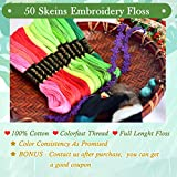 Embroidery Floss Rainbow Color 50 Skeins Per Pack