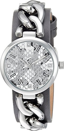 Training Costumes Swimming Funky (Steve Madden Women's Quartz Silver-Tone Casual Watch, Color:Black (Model:)