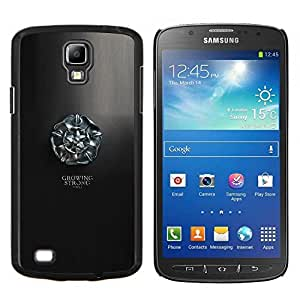 Creciendo Stron Tyrell- Metal de aluminio y de plástico duro Caja del teléfono - Negro - Samsung i9295 Galaxy S4 Active / i537 (NOT S4)