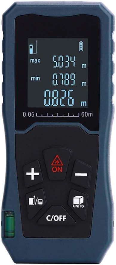XFQ Láser de Distancia, medidor electrónico Digital del telémetro de la Cinta métrica telémetro Bolsa de Transporte y una batería incluida,40m
