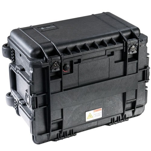 Pelican 0450 Mobile Tool Chest with Wheels, Without Drawers, Two Way Handles, Black