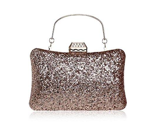 Clutch Gift Clubs Ladies Purse Bridal Bag Evening Silver Bag Sequin Party Wedding Shoulder Glitter Prom Women Handbag For dnvax6Zd