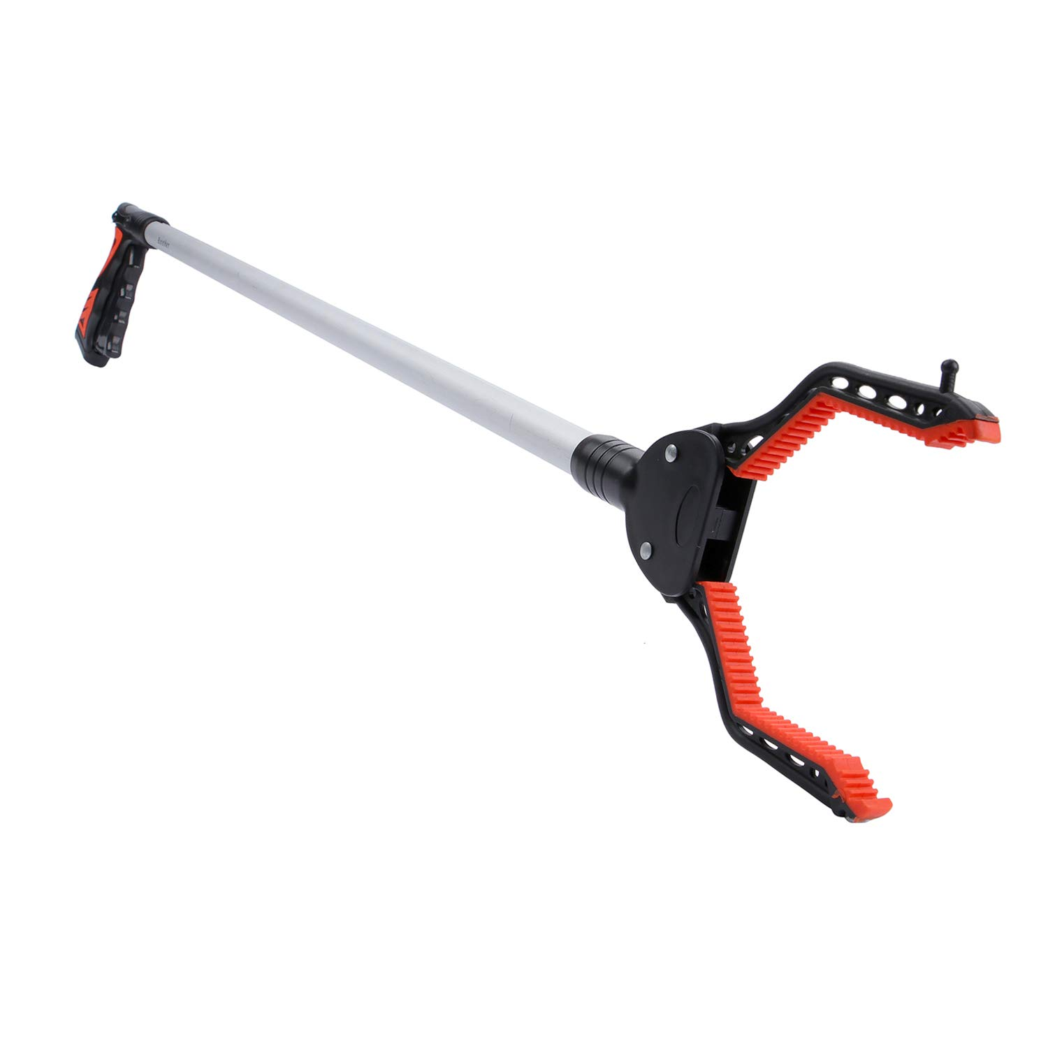 Rirether Grabber Tool for Trash Pickup, 36'' Reacher Grabber with Magnetic Tip and Hook, Rotating Gripper, Reaching Assist Tool, Durable Aluminum Alloy, Lightweight Reacher (Red)