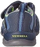Merrell Kids' Unisex Hydro Sandal, Navy/Green, 10 M
