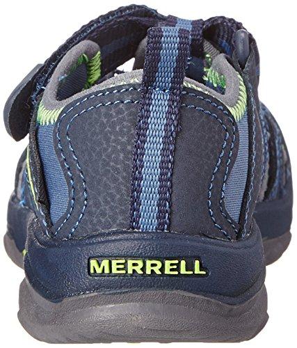 Merrell HYDRO HIKER SANDAL - Sandalias Deportivas de material sintético infantil Azul (Navy Green)