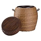 Bombay Furniture Company Best Deals - Bombay Company Tanjay Wicker Drum Outdoor Side Table