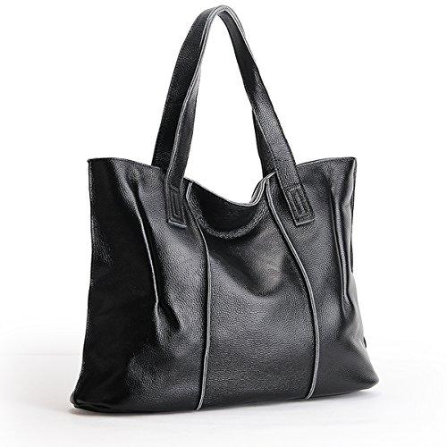 Women Top Black Dissa Design Fashion 69316 Elegant handle Bag Leather Lf Handbag Shoulder BUqwUgE