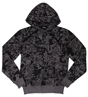 Tokidoki Grey Da Gang Zip Hoodie Men (Large)