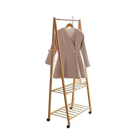 PMTX-Coat rack Perchas De Bambú, Perchas, Armario Móvil ...